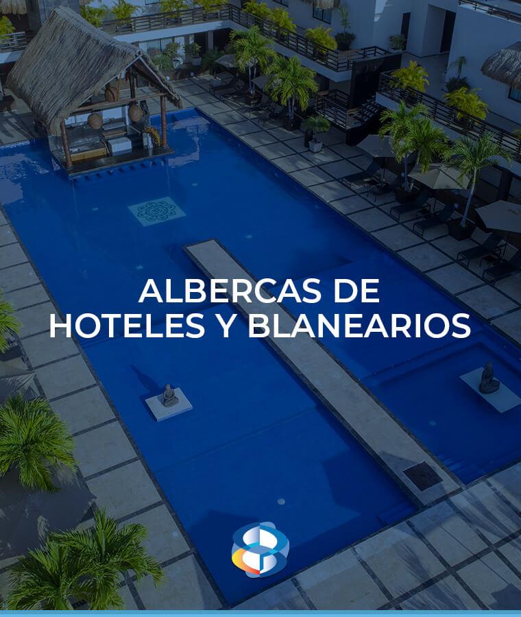Construcción de albercas para hoteles y balnearios
